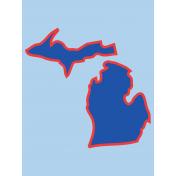 Journal Card Michigan 3x4