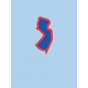 Journal Card New Jersey 3x4