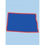 Journal Card North Dakota 3x4