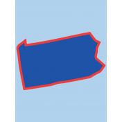 Journal Card Pennsylvania 3x4