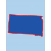 Journal Card South Dakota 3x4