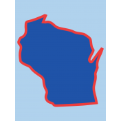 Journal Card Wisconsin 3x4