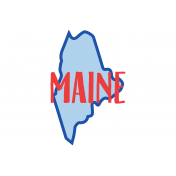 Journal Card Maine 4x6
