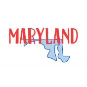 Journal Card Maryland 4x6