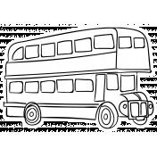 England Sticker Bus