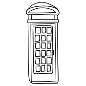 England Sticker Telephone