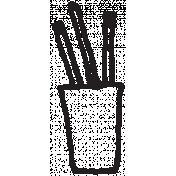 Work Day Pencils Illustration