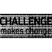 Work Day Word Art- Challenge