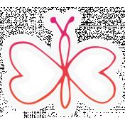 Bugs Sticker Butterfly 05