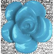 Vienna Plastic Flower- Blue