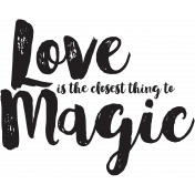 Love Magic Word Art
