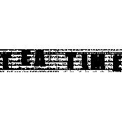 Stamped Word Art Tea Time