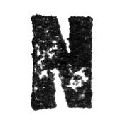Stamped Letter N