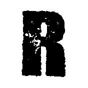 Stamped Letter R
