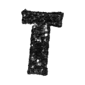 Stamped Letter T