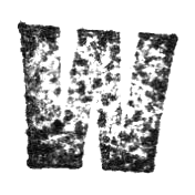 Stamped Letter W