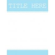Journal Card Template 007 3x4