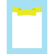 Journal Card Template 015 3x4