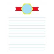 Journal Card Template 016 3x4