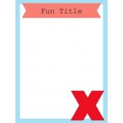 Journal Card Template 017 3x4