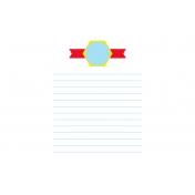 Journal Card Template 016 4x6