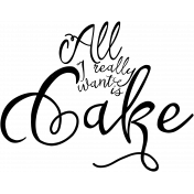 Word Art Only Cake