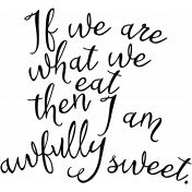 Word Art Awfully Sweet
