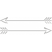 Fine Print Wire Arrow