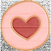 Fine Print Wood Heart