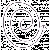 Fine Print Sticker Arrow