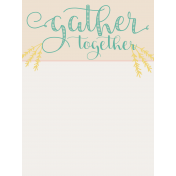 To Gather Journal Card 01 3x4