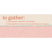 To Gather Tag 02