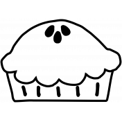 Thankful Illustration Pie 01 Template