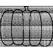 Thankful Illustration Pumpkin Template