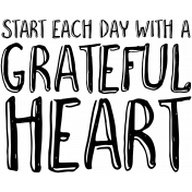 Thankful Harvest Word Art Each Day