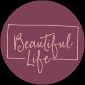 Thankful Harvest Word Circle Beautiful Life