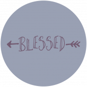 Thankful Harvest Word Circle Blessed