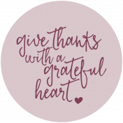Thankful Harvest Word Circle Grateful Heart