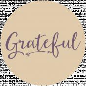 Thankful Harvest Word Circle Grateful