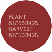 Thankful Harvest Word Circle Plant Blessings