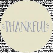 Thankful Harvest Word Circle Thankful