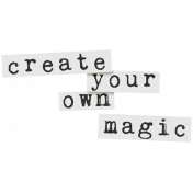 Create Something Label Create Magic