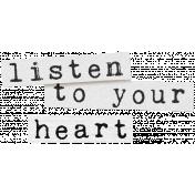 Create Something Label Listen Heart