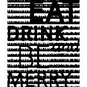 Festive Word Art 10 Template