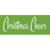 Festive Label Christmas Cheer