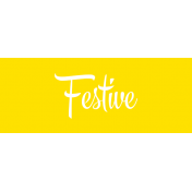 Festive Label Festive