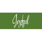 Festive Label Joyful