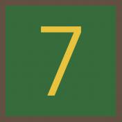 Christmas Number Tag 7