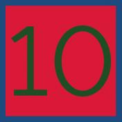 Christmas Number Tag 10