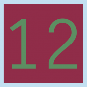 Christmas Number Tag 12